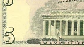Clip americana di sequenza dei soldi della banconota in dollari archivi video