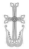 Clip art apostólico armenio de la cruz de la iglesia Imágenes de archivo libres de regalías