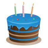 Clip art azul hermoso del ejemplo del vector de la torta Fotos de archivo