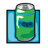 Clip art beer can Stock Photos