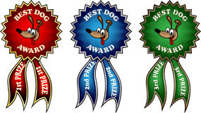 Clip-art best dog award ribbons Stock Photo