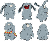 Clip art. Blue rabbits Stock Photos