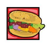 Clip art cheeseburger Royalty Free Stock Image