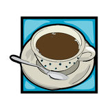Clip art coffee Royalty Free Stock Photos