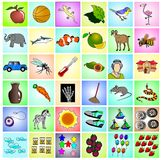 Clip Art. Collection (animal, object, transportation, etc Stock Photography