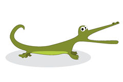 Clip art crocodile Royalty Free Stock Photography