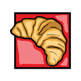 Clip art croissant Stock Photography