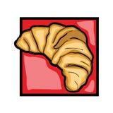 Clip art croissant Stock Photography
