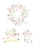 Clip art de la Navidad Imagen de archivo