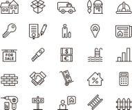 Clip art de los iconos de Real Estate Fotografía de archivo