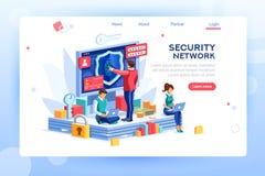 Clip art del vector del concepto de la seguridad libre illustration
