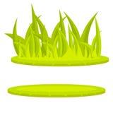 Clip art del vector de la historieta del verde del césped de la hierba Imagen de archivo