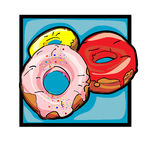 Clip art donuts Stock Photos