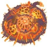Clip Art Explosion Illustration de la historieta del vector Fotografía de archivo libre de regalías