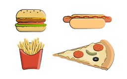 Clip art fast food Stock Image