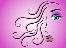 Clip art femenino 3 de la belleza de la cara imagenes de archivo