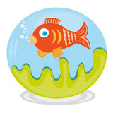 Clip art of fish in aquarium royalty free stock photos