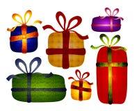 Clip art popular rústico de los regalos de la Navidad fotografía de archivo libre de regalías