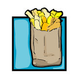 Clip art french fries Royalty Free Stock Image