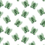 Clip art geométrico del modelo del verde de la acuarela de la mariposa del chapoteo del ejemplo seamlless del dibujo para la impr stock de ilustración