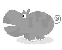 Clip art hippo Stock Photo