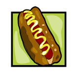 Clip art hot dog Stock Photo