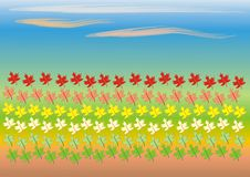 Clip art with leaves Royalty Free Stock Image