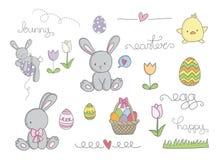 Clip art lindo de Pascua Imágenes de archivo libres de regalías