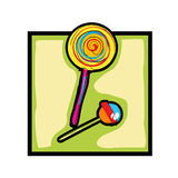 Clip art lollipop and candy Royalty Free Stock Photo