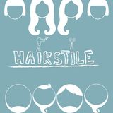 Clip-art from man's and female hairstylings Royalty Free Stock Photo