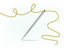 Clip-art of needle and thread Royalty Free Stock Photography