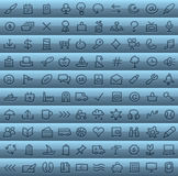 Clip art set in blue. A clip art set in blue with various symbols Stock Images