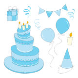 Birthday boy Set royalty free illustration