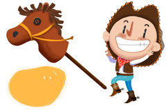 Clip Art Set: Cow Boy, Stuffed Horse Toy etc. Royalty Free Stock Images