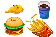Clip Art Set: Familia de la hamburguesa Fotografía de archivo libre de regalías