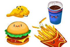 Clip Art Set: Hamburger Family. Royalty Free Stock Photography
