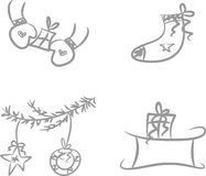 Clip-art Set: Xmas icons Stock Photo
