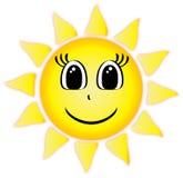Clip art sonriente de Sun del verano Imágenes de archivo libres de regalías
