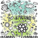 Clip art spring colorful spots  illustrations Royalty Free Stock Photo
