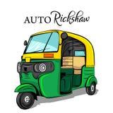 Indian rickshaw stock vector. Illustration of indian ...