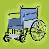Clip art wheelchair Royalty Free Stock Images
