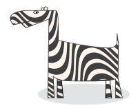 Clip art zebra. Isolated object over white background Stock Photos