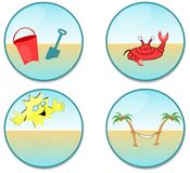 Clip art de la playa fotos de archivo libres de regalías