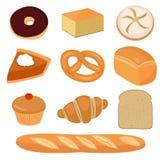 Clip-arte del pan y de los pasteles Fotos de archivo