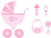 Clip-arte fijado: Bebé (color de rosa) Fotografía de archivo libre de regalías