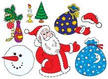 Clip-arti di dicembre Immagini Stock Libere da Diritti