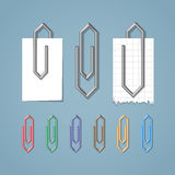 Clip on blue background Royalty Free Stock Image