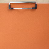 Clip board and colored paper Royalty Free Stock Photo