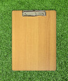 Clip board on grass Stock Photography