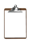 Clip board with paper royalty free stock images